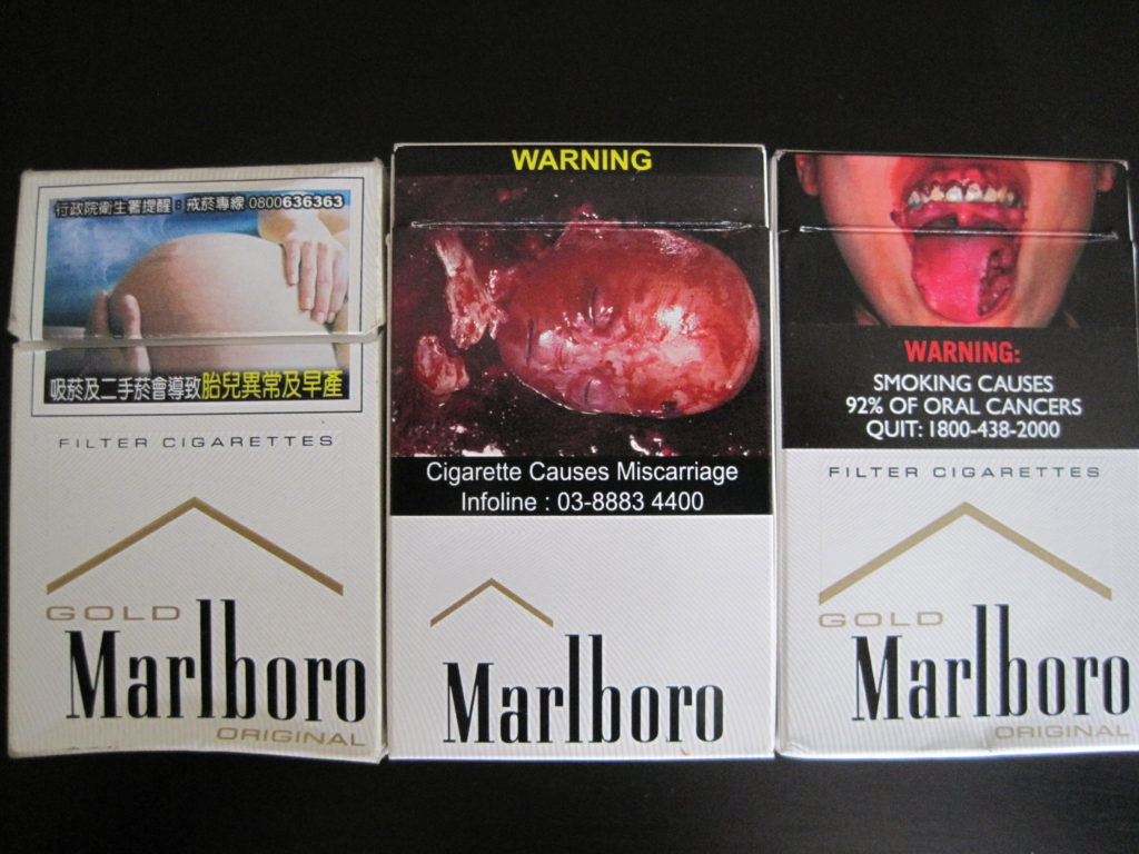 cigaret warnings